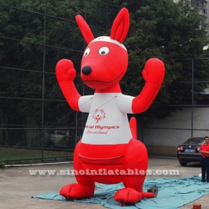 red inflatable mascot Joey