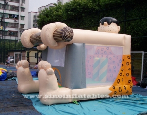 small indoor kids Caveman castillo bouncy castle