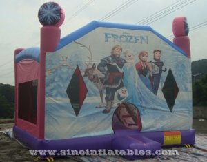commercial kids frozen jumping castle with slide