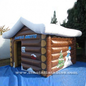 outdoor Christmas inflatable Santa's grotto
