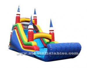 tower inflatable slide with single lane