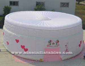 palace wedding LED light inflatable tent