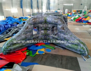 military brick printing inflatable paintball wall