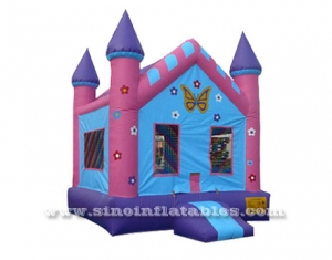 kids butterfly park inflatable bounce house