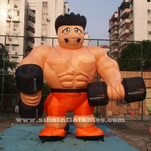giant inflatable muscle man