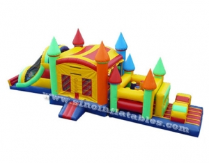 outdoor kids inflatable combo game obstacle course