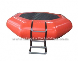 inflatable trampoline combined with ladder without springs