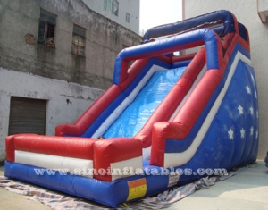 Patriotic giant stars inflatable slide