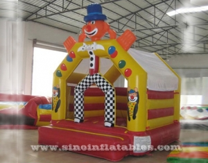 kids clown inflatable bouncy castle