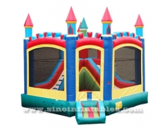 rainbow kids inflatable bounce house