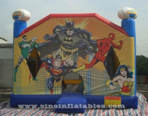 commmercial Justice League kids bounce house