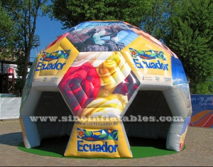 colorful football inflatable tent