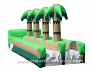 Summer cool coconut tree kids inflatable water slip and slide