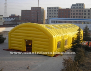 yellow sports playground giant inflatable tent