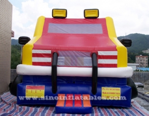 Custom made outdoor kids truck inflatable bounce house