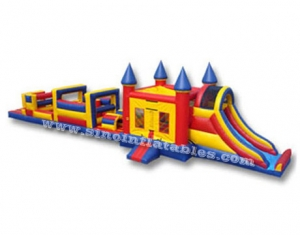 kids bouncy house inflatable obstacle course