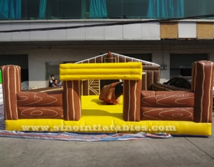 inflatable machanical bull arena