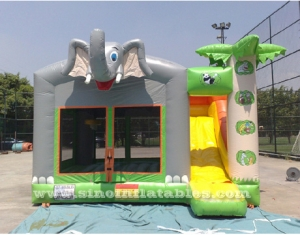 kids elephant inflatable bounce house