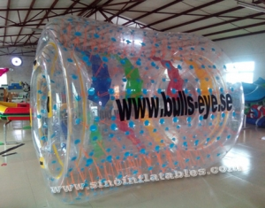 PVC and TPU inflatable water roller with removable tubes