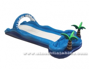beach inflatable water slip and slide with pool