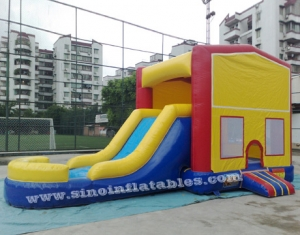Inflatable combo game with slide N pool
