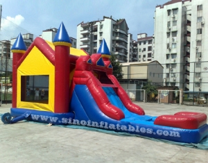 commercial bounce house with pool slide