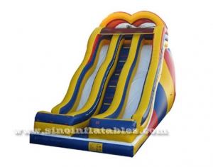 double lane adults giant inflatable slide