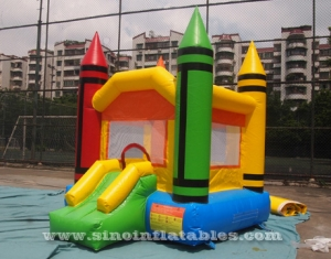 Indoor mini toddler inflatable bouncy castle with small slide
