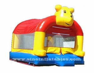 Outdoor lovely bear inflatable bounce house with blower