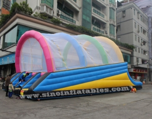 Commercial grade ramp shape outdoor adults inflatable obstacle slide