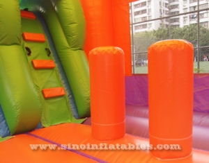 Outdoor rainforest theme kids water jumping castle
