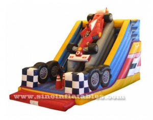 kids formula car inflatable slide