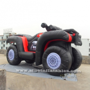 Giant inflatable beach motorcycle model