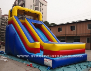 front load kids inflatable dry slide
