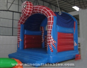 kids party spiderman inflatable bouncy castle with roof