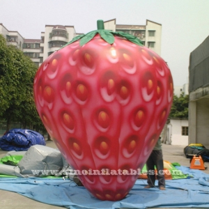 3 meters high advertising inflatable strawberry