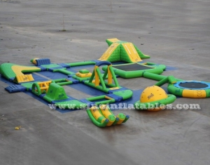 green N yellow giant inflatable water park