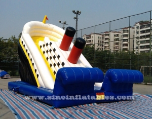 big kids inflatable titanic slide