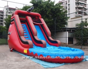 commercial pirate inflatable water slide sales