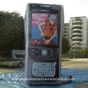 advertising Nokia inflatable phone model