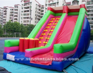 kids party inflatable slide with pillars