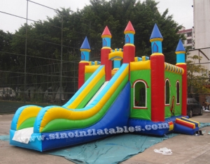 Rainbow kids inflatable combo