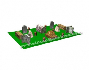 Outdoor boot camp design inflatable paintball bunker made with pvc tarpaulin-Sino Inflatables