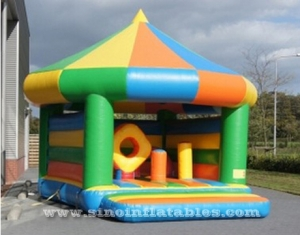 indoor kids small inflatable bouncy castle with circle roof