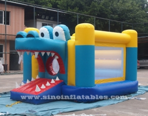 indoor kids big mouth crocodile inflatable bouncer