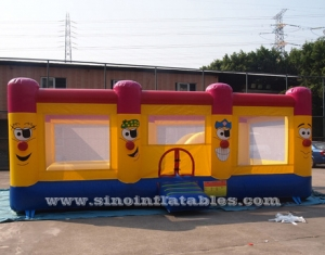 big clown kids inflatable jumping castle
