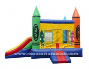 colorful crayon house kids inflatable combo game