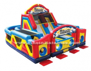 Colorful kids inflatable obstacle
