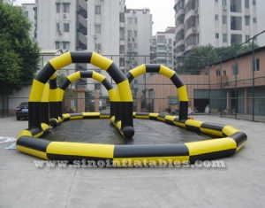 go karts inflatable race track