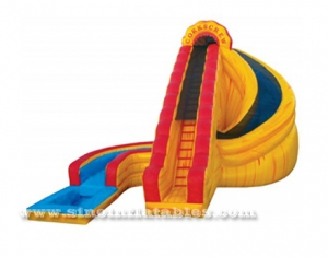 Giant Corkscrew Fire Inflatable Water Slide